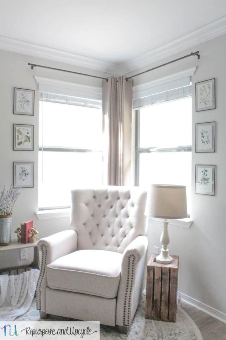 Transforming A Room With Corner Curtains And A Corner