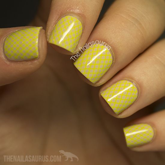 Easy Yellow Nail Art Designs