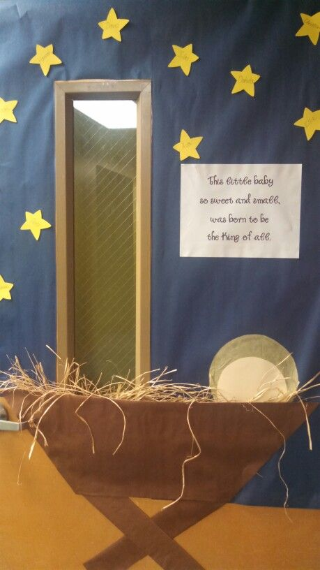 Classroom Decoration Church ~ Religious christmas door decorating ideas