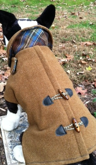 Wool Army Blanket Pea Coat for dogs by CustomDogJacket on Etsy, $69.99