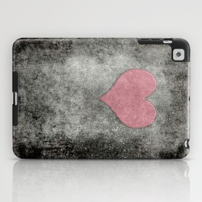 Valentines Grunge Love in Opal Pink iPad Case by Bruce Stanfield - $60.00
