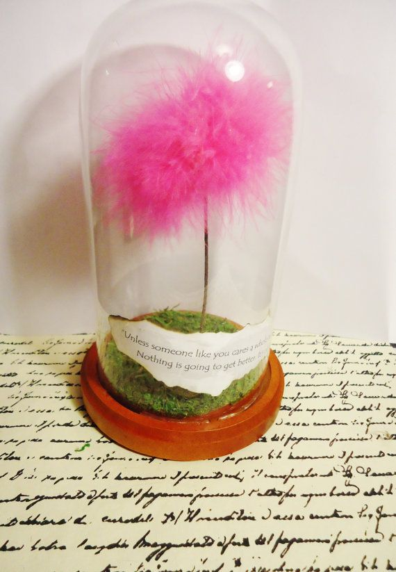Truffula Tree Terrarium, 12 inches tall, Dr Suess the Lorax, custom quote