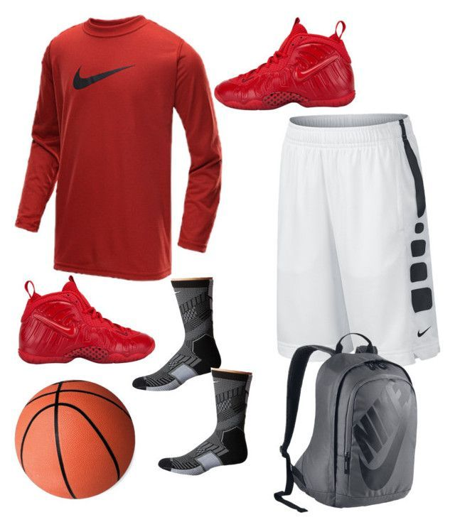 """""""basketball outfits"""" by aliya-ramon on Polyvore featuring NIKE"""