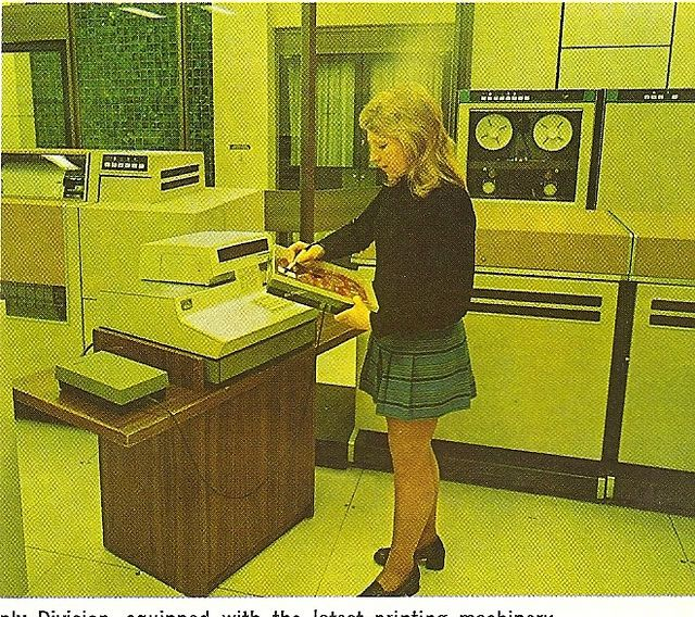 In the 70s it took two days just to throw an Angry Bird.    The High Tech Tommorow... by glen.h, via Flickr