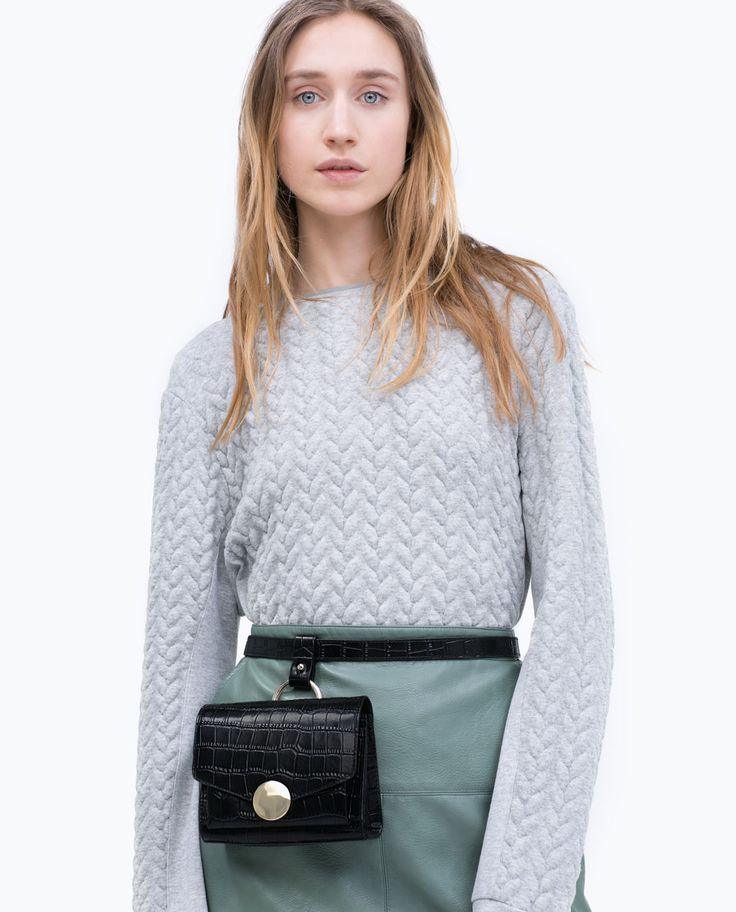 CROC-EMBOSSED LEATHER BELT BAG-View all-Handbags-WOMAN | ZARA United States