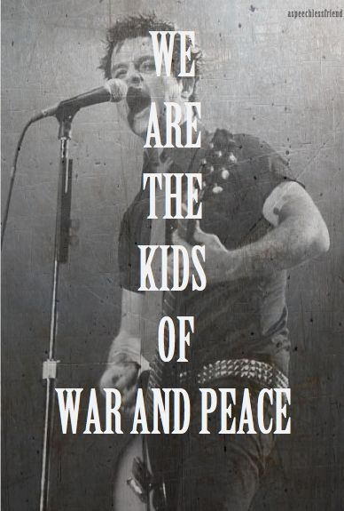Everyone is so full of shit Born and raised by hypocrites Hearts recycled but never saved From the cradle to the grave We are the kids of war and peace From Anaheim to the middle east We are the stories and disciples Of the Jesus of Suburbia
