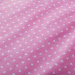 Ткань розовая со звездочками