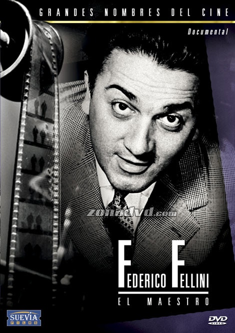 """DVD DOC 138 - Federico Fellini: el maestro (2000) Italia. Biográfico. Cine dentro do cine.Sinopse: o documental céntrase case na súa totalidade na película máis representativa de Fellini, """"La dolce vita"""": localizacións, anécdotas do rodaxe, as estreas en festivais, os premios que recibiu o filme. Inclúe entrevistas a Fellini sobre a súa infancia, os seus inicios como director e as intencións dalgúns das súas films. Inclúe escenas da rodaxe de Satyricon e a súa estrea no Festival de Venecia."""