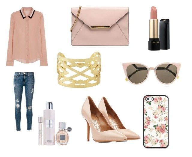 """""""Lunch with the girls"""" by leigh-ann-griffiths on Polyvore featuring Frame Denim, RED Valentino, Fendi, Salvatore Ferragamo, Lancôme, Viktor & Rolf and Panacea"""