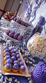 Jackie Sorkin's Fabulously Fun Candy Girls, Candy World, Candy Buffets & Event Industry Bl: A Super Purple , Glam & Blinged Out Wedding & Custom Dessert Bar & Candy Catering At The Old Ranch Country Club, Seal Beach