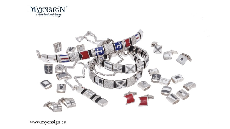 Create your own nautical jewelry in the JEWEL DESIGNER at our website!   www.myensign.eu