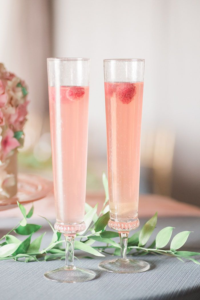 Raspberry Bellini Wedding Cocktails