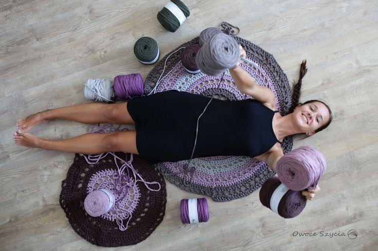 Szydełkowy szał ;)   crochet, t-shirt yarn, rug #owoceszycia