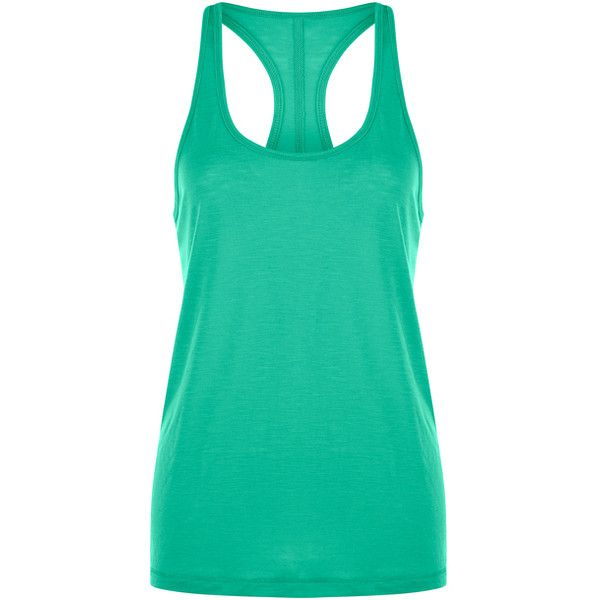Lorna Jane Neon Jade Slouchy Gym Tank ($20) ❤ liked on Polyvore featuring tops, stretch top, slouchy tank, lorna jane, stretchy tops and neon green top