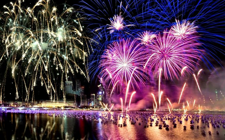 Splendid fireworks Wallpaper New year pictures, Happy