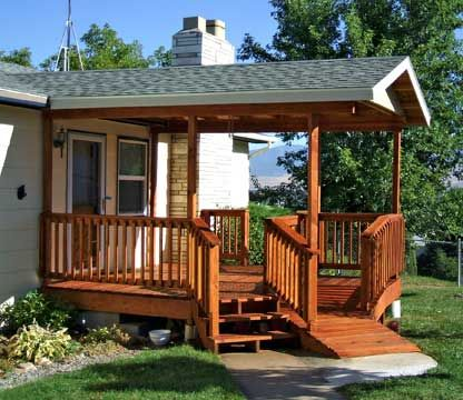 Covered Front Porch And Wheelchair Ramp Home Improvement