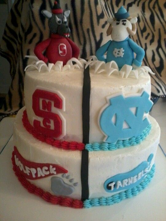 Grad cake. Would be cute to do your high school on the left and college on the right