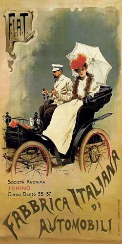 El nacimiento de la empresa comienza con el acta notarial del día 1 de julio de 1899, cuando se funda la Società italiana per la costruzione e il commercio delle automobili. Esta sociedad fue creada por los italianos Giovanni Agnelli y su socio Emanuele Cacherano di Bricherasio.