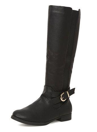 Black knee-high boots