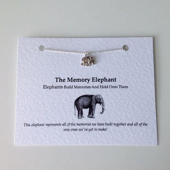 Friendship Necklace Silver Elephant Pendant Charm by PetitePolly