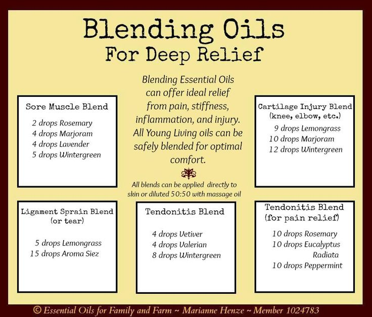 Young Living Essential Oils: Deep Pain Relief Recipes