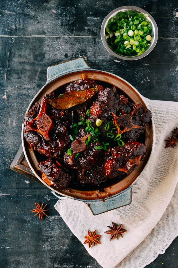 Chinese Braised Oxtails, by thewoksoflife.com