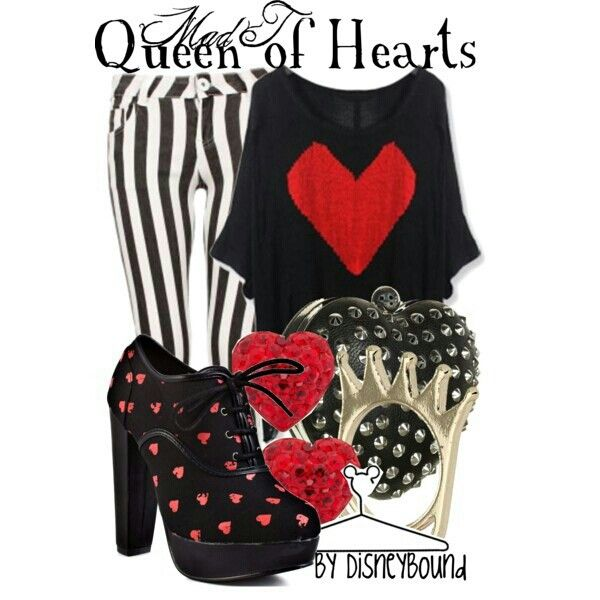 17 Best images about Costumes on Pinterest BlackQueen Of Hearts Disneybound