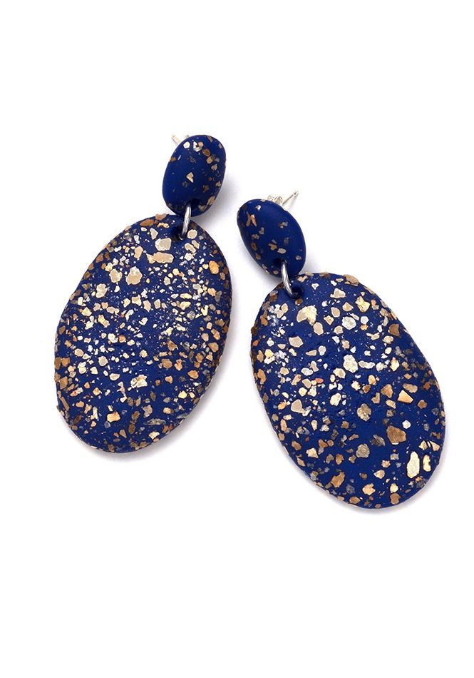 Image of Cobolt Blue Terrazzo Drop Earrings