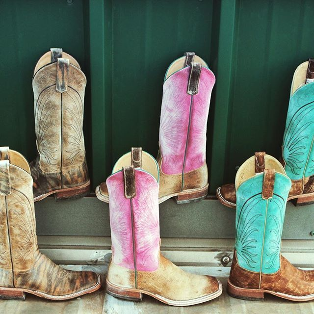 Trending Now: Washed + Tumbled square toe cowgirl boots by Anderson Bean