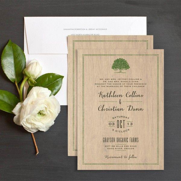 Wooded Romance Wedding Invitation