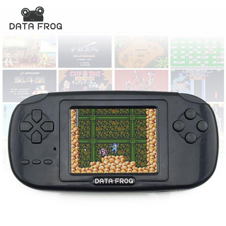 データカエル携帯型ゲーム機で168ゲームに建てられ3インチ画面ゲームコンソール8ビットポータブルゲームコンソール