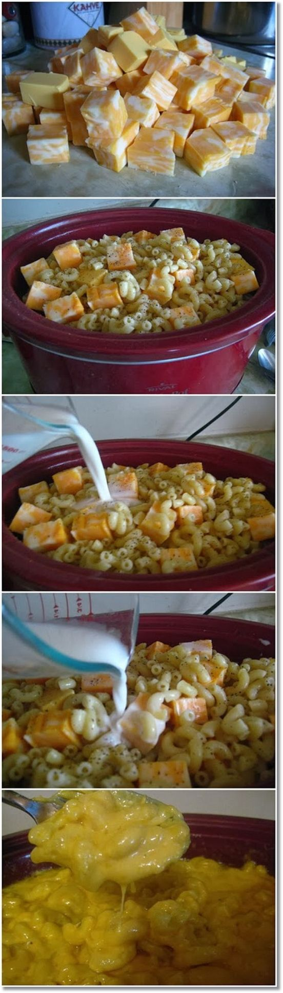 Crock pot mac and cheese. Very heavy, but so cheesy and yummy. I will make this again, but with a few minor changes.