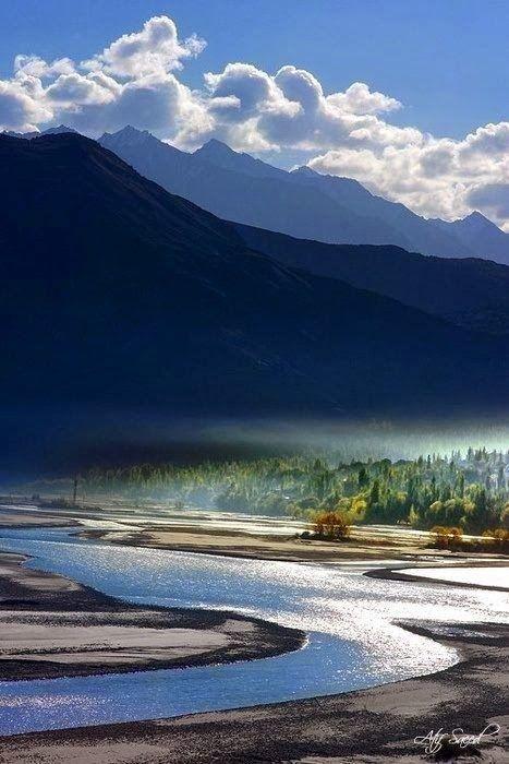 16. The Indus River in Khaplu