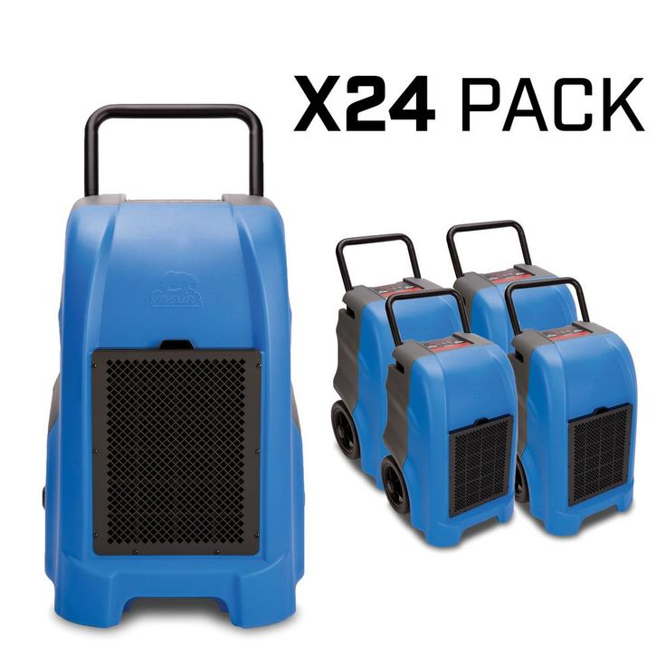 B-Air 150-Pint 325 CFM Commercial Dehumidifier for Water Damage Restoration Mold Remediation, Blue (24-Pack), Blues