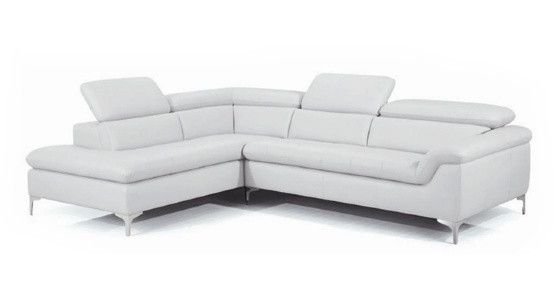 New Spec Danco Leather Sectional Sofa - White