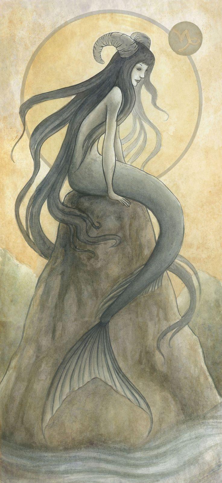AstroSpirit / Capricorn ♑ / Earth / Capricorne / The Sea Goat by ~Evanira