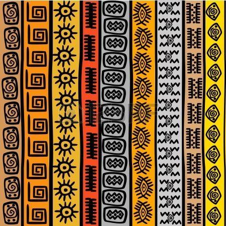 Seamless pattern avec des motifs ethniques africains                                                                                                                                                                                 Plus