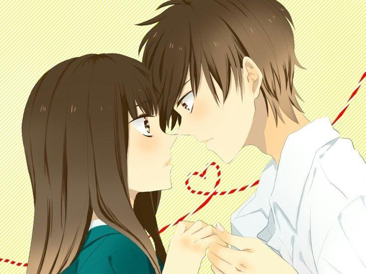 3 Anime KissManga AnimeCouple Holding HandsKimi