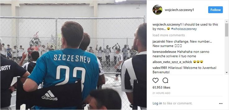 Wojciech Szczęsny's adventure at Juventus has not begun well, with the goalkeeper's name misspelled by his new club