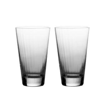 William Yeoward American Bar Corinne Beer Tumblers, Set of 2 – Clear