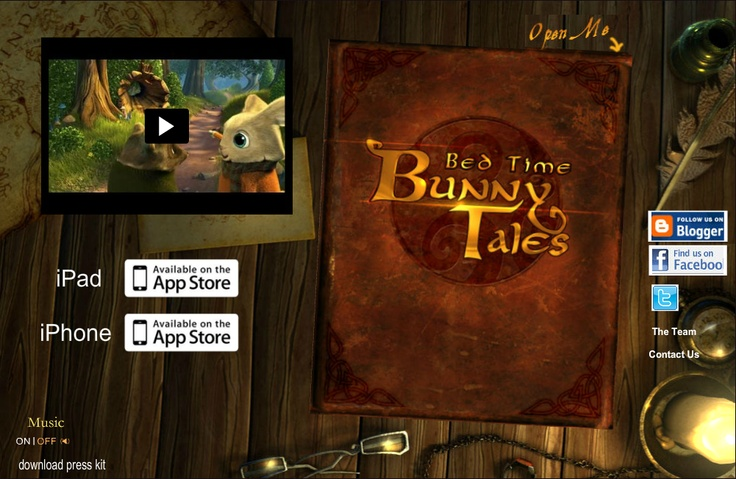 """Bunny Tales is an iPad/iPhone children's story book aimed at helping parents make bedtime easy, educational and relaxing! Stories that are engaging...but will also encourage kids to turn off the lights and drift off to dreamland. When your child knows bedtime now means """"adventure time with the iPad"""", it makes the ritual a lot less painful! Kids seem to engage and connect with mobile devices naturally and the interaction just makes it plain fun!"""