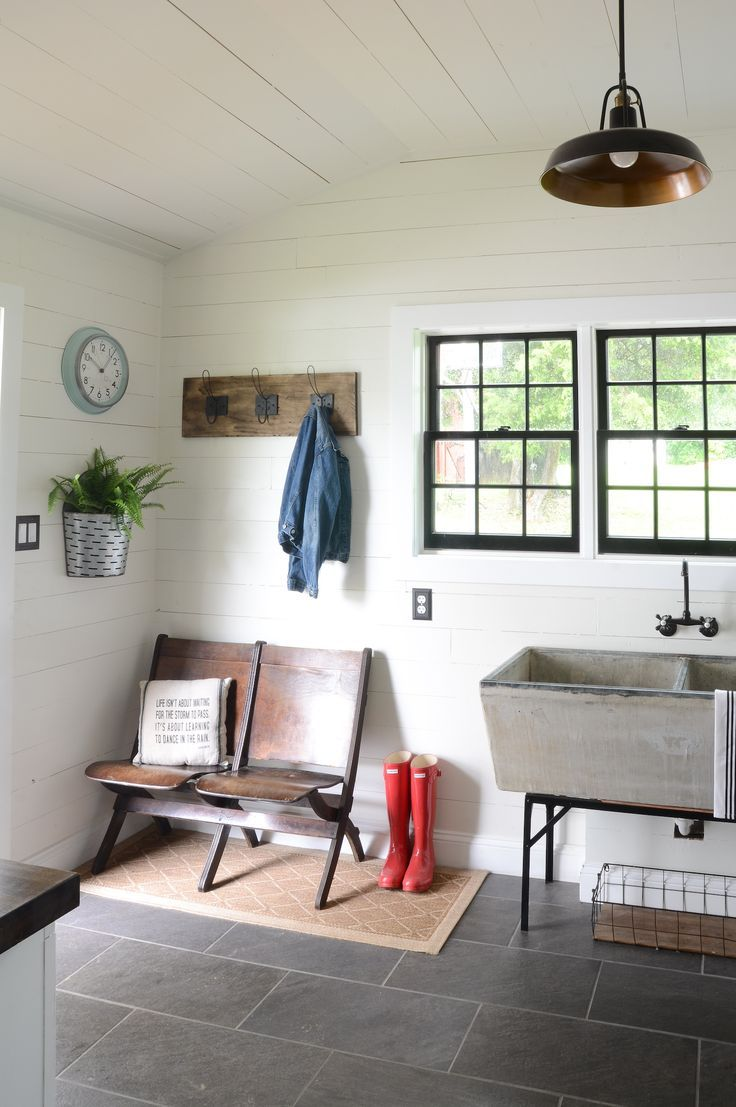 895 best laundry room mud room entryway ideas images on for Modern farmhouse mudroom