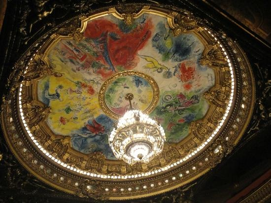 Palais Garnier - Opera National de Paris: techo del auditorio pintado por Marc Chagall