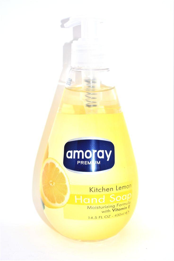 Amoray Premium Kitchen Lemon Hand Soap 14 5 Fl Oz Lemon Liquid