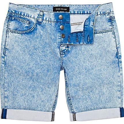 ácido azul claro lavar pantalones cortos de mezclilla - Pantalones cortos - Pantalones casuales - Hombre - Río Island