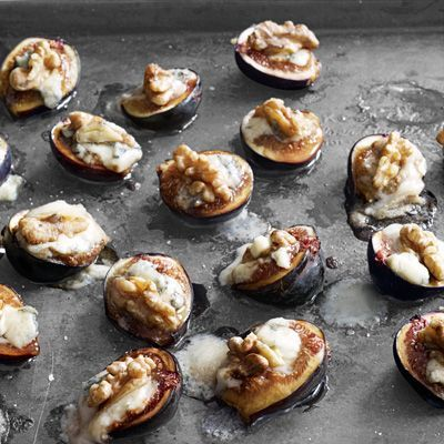 Anne Burrell, author of Cook Like a Rock Star, shares this recipe filled with seasonal autumn ingredients. Recipe: Figs with Walnuts and Gorgonzola   - Delish.com