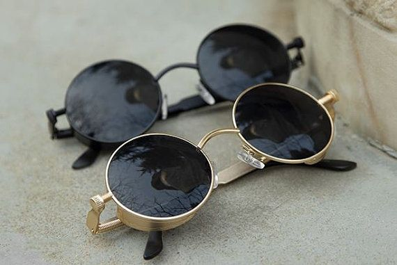 Very Cool Punk Round Sunglasses FREE SHIPPING by AKTreasureShop