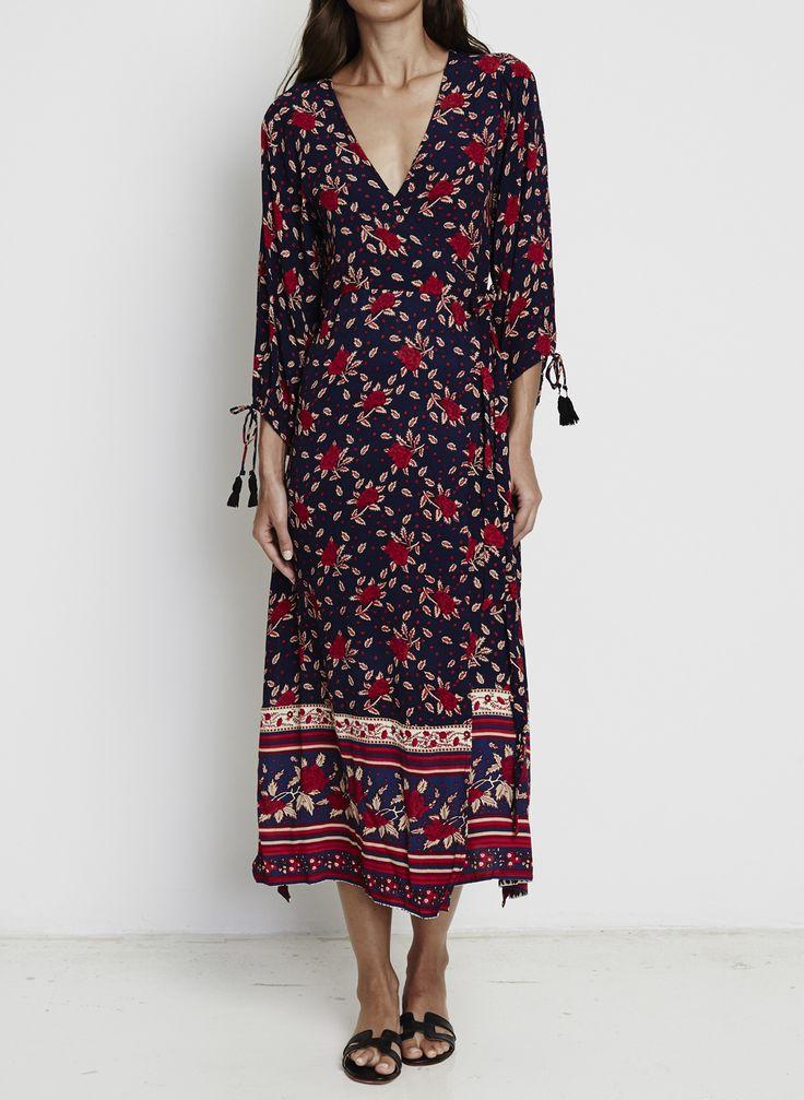 Faithfull The Brand - Atlas Wrap Maxi Dress - Rose Garden Floral