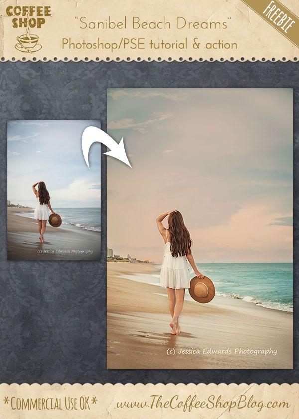 "CoffeeShop ""Sanibel Beach Dreams"" Photoshop/PSE Editing Tutorial: Part 4, Vintage Rosy-Ivory Tint!"