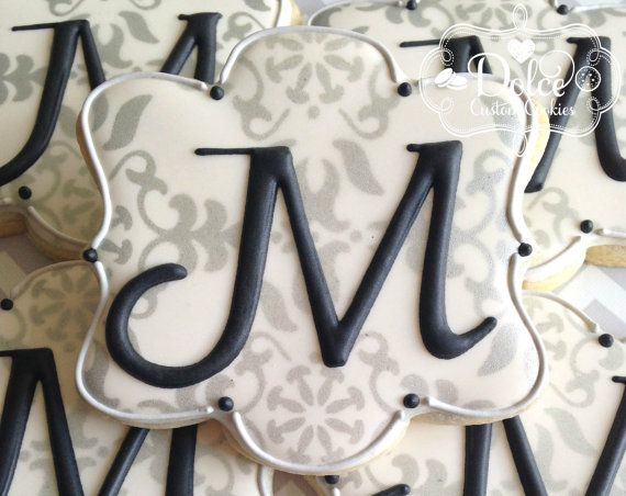 Monogram Cookies Elegant Wedding Anniversary Engagement Party Baptism…